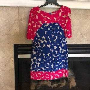 Block color styled dress. Perfect for summer
